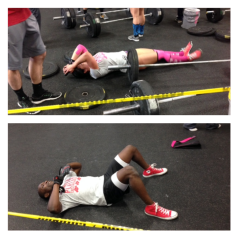 After the 4th and final WOD, we gave it all.