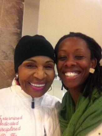 Mrs. Ernestine Shepherd with Jillian Nov. 2014.